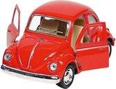 Goki Metalen volkswagen klassieke kever 1967: rood