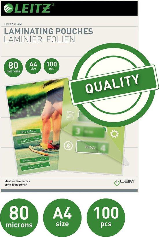 Leitz Lamineerhoezen A4 - 80 micron - 100 stuks