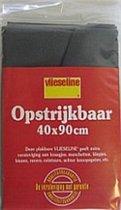 Vlieseline opstrijkbaar 40 x 90 cm zwart