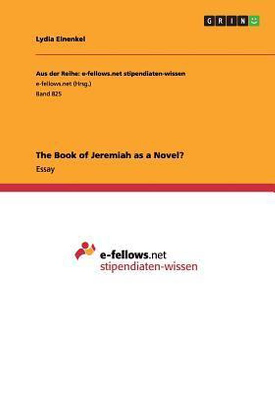 The Book of Jeremiah as a Novel?