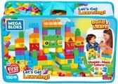 Mega Bloks First Builders  Laten We Leren Tas 150 Stuks - Constructiespeelgoed