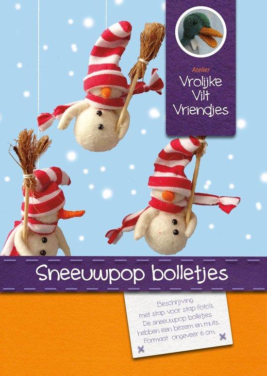 DIY wolvilt pakket: Sneeuwpop bolletjes