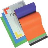 Gallery gekleurd tekenpapier Multicolor formaat 245 x 345 cm 120 g/m² blok van 20 vel