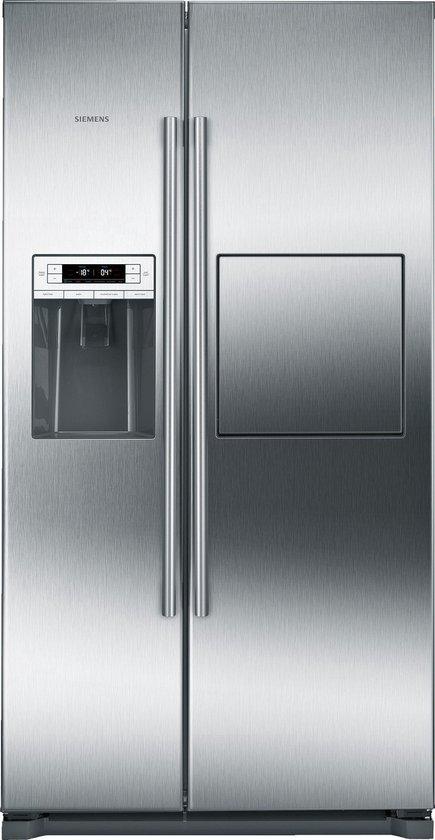 Koelkast: Siemens KA90GAI20 iQ500 Amerikaanse koelkast - RVS, van het merk Siemens