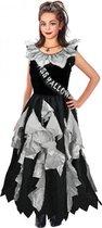 Zombie prom queen halloween kostuum jurk voor meisjes van 3-12 jaar 8-10 jaar (140)