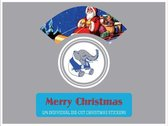 Merry Christmas - Vintage Christmas Stickers.
