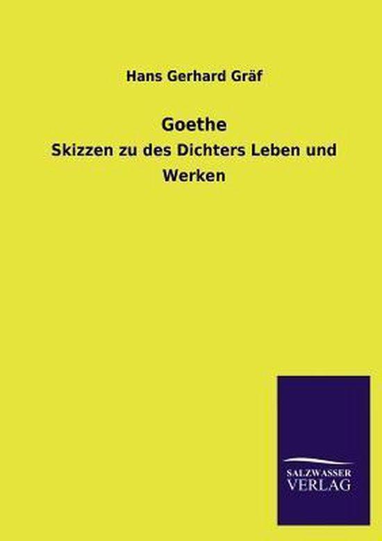 Boek cover Goethe van Hans Gerhard Gräf (Paperback)