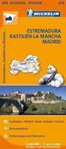 Michelin Regionalkarte Estremadura (Extremadura), Kastilien-La Mancha, Madrid 1 : 400 000