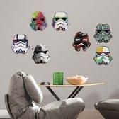 Muurstickers Star Wars Artistic Stormtrooper Heads