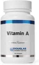 Vitamine A 4000 IU - 100 vegetarische capsules - Douglas laboratories