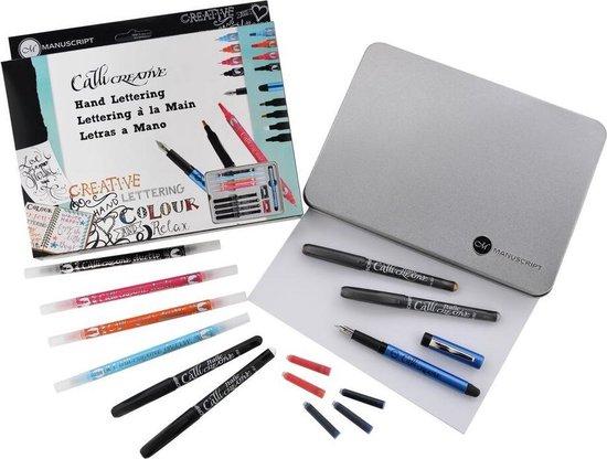 Manuscript Handlettering Set MC170LET - incl vulpennen, duotips en creative markers