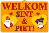 Sinterklaas 3D wanddecoratie - 58 x 38 cm - Sint en Piet versiering