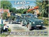 Land Rover Defender 110 Metalen wandbord 30x40 cm