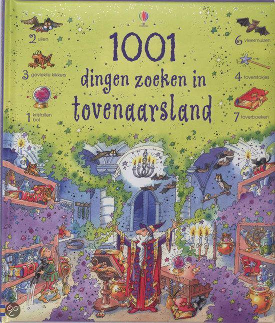 Cover van het boek '1001 dingen zoeken in Tovenaarsland' van Gillian Doherty