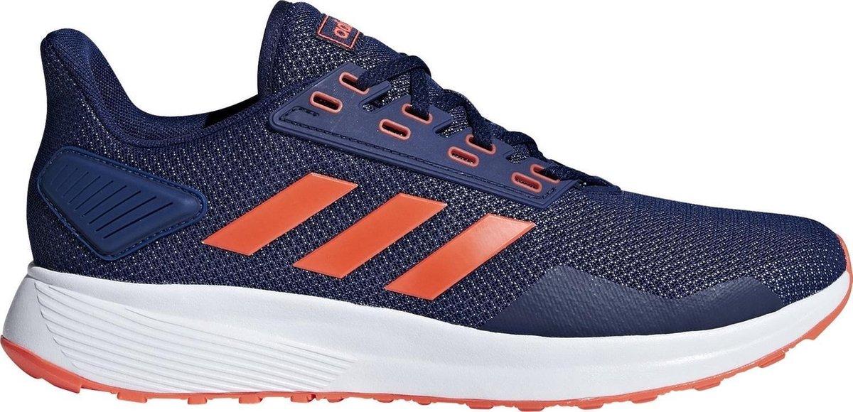 adidas Duramo 9 Hardloopschoenen Heren - Dark Blue/Solar Red/Ftwr White - adidas