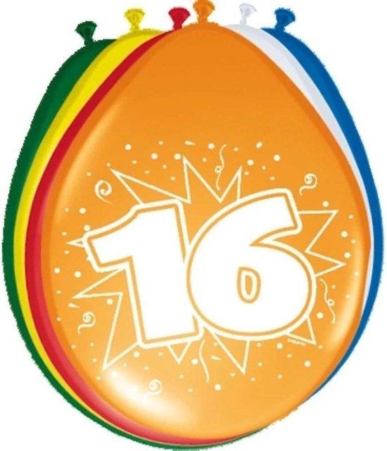 16x stuks Ballonnen versiering 16 jaar