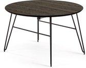 Kave Home - Milian ronde uitschuifbare tafel Ø 120 (200) x 75 cm