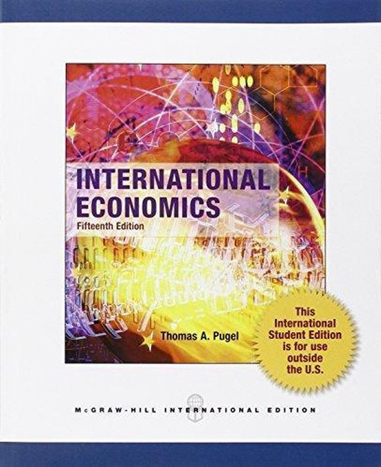 Boek cover International Economics (Intl Ed) van Thomas Pugel (Paperback)