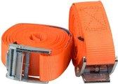 Premium Oranje Spanbanden van 3,5 M x 3 CM met Metalen Klem - 100 KG Limiet - 2 Stuks   Spanband