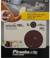 Piranha Schuurschijf  excentrische schuurmachine 125mm, 180K 5 stuks X32042