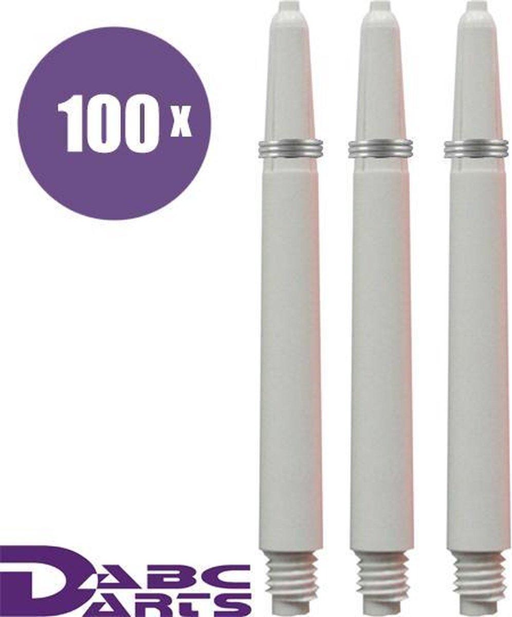 ABC Darts Shafts - Kunststof Wit - Medium - 100 sets