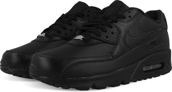 Nike Air Max 90 Leather Black 302519 001   Zwart
