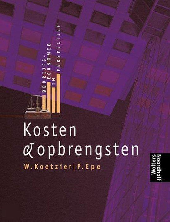 Boek cover BEDRIJFSECONOMIE PERSPECT KOSTEN DR 1 van P. Epe (Paperback)