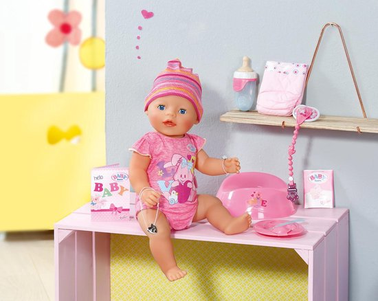 BABY born Interactieve Pop - Roze - Babypop - BABY born