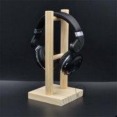 Staande Koptelefoon Houder - Headset Houder - Hoofdtelefoon Stand / Standaard - Hout