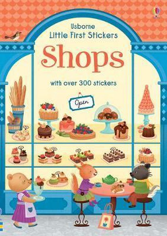 Boek cover Little First Stickers Shops van Abigail Wheatley (Paperback)