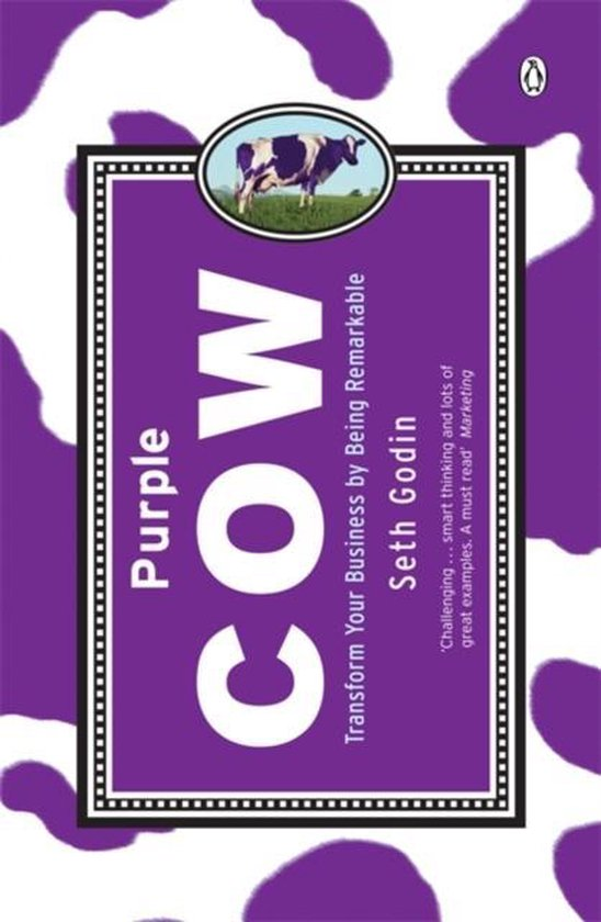 Boek cover Purple Cow van Seth Godin (Paperback)