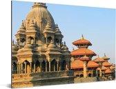 Prachtige architectuur van het Durbarplein in Nepal Aluminium 80x60 cm - Foto print op Aluminium (metaal wanddecoratie)