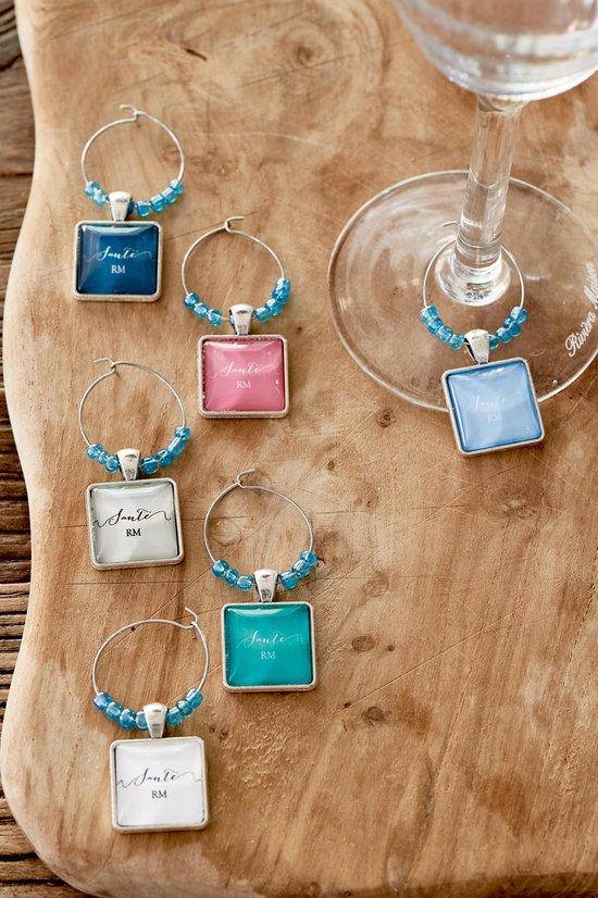 Riviera Maison Santé Wine Glass Charms - Decoratie - diversen - Glas