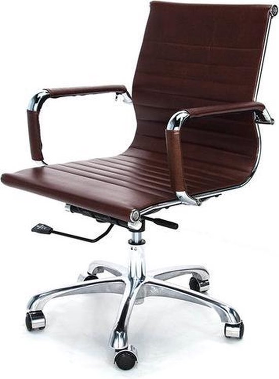 Vintage Design Bureaustoel.Bol Com Bureaustoel Doc Vintage Bruin Design Kantoorstoel