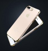 IMZ Clear Gold Soft TPU Shockproof Hoesje iPhone 7 Plus
