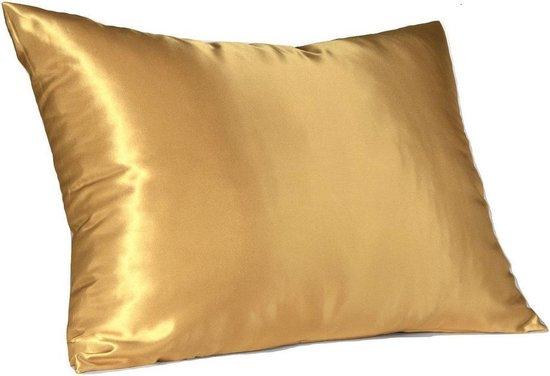 Kussensloop - Satijn - Beauty Kussen - Goud 60x70 cm