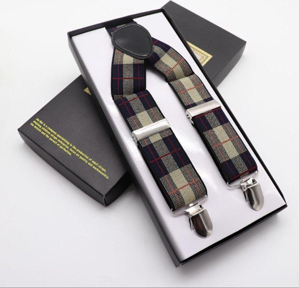 San Vitale Moderne bretels met klemsluiting om ze aan de broeksband te bevestigen. Let op, niet verpakt in een doosje zoals op de foto, maar in een gesealde kunststof verpakking. 7 verschillende, moderne en klassieke dessins. - San Vitale