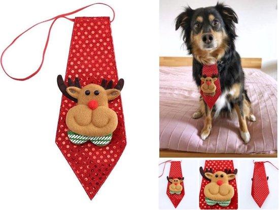 Mini 3D Kerststropdas - Kerstmis stropdas - Kerst Hert - Voor kinderen en de hond - Rudolph 1 stuks
