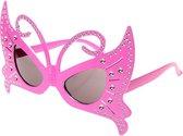 Vlinder bril roze