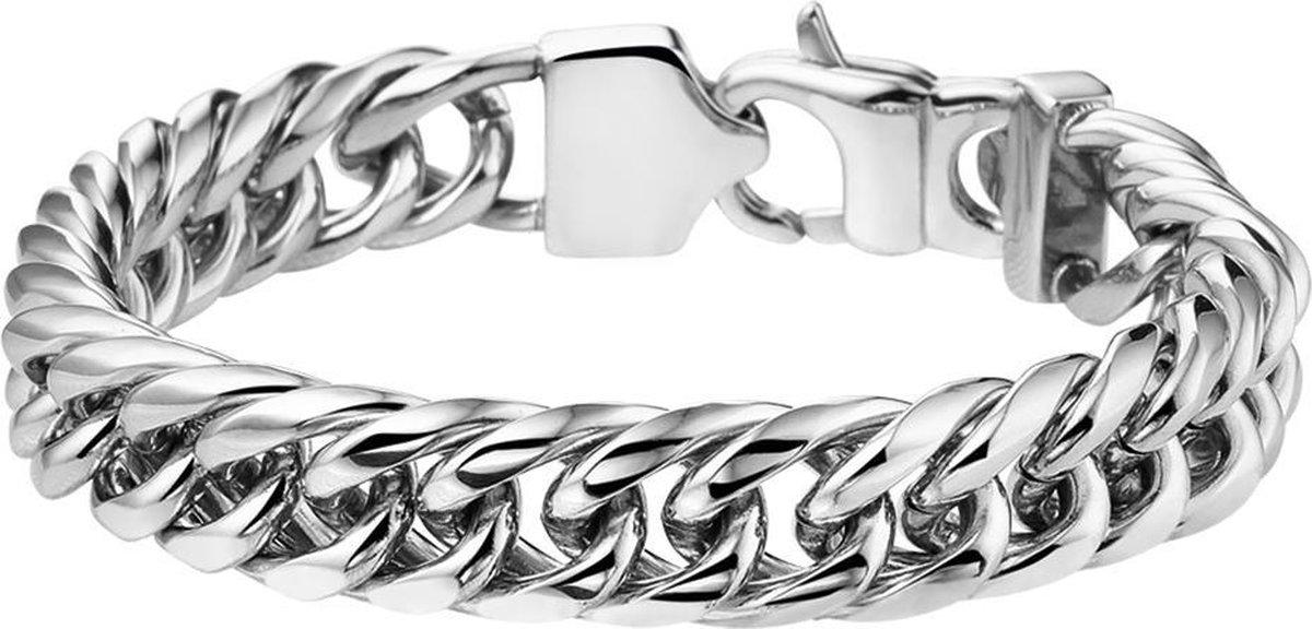Vigor Armband Gourmet 11 mm 19 cm - Staal - Vigor