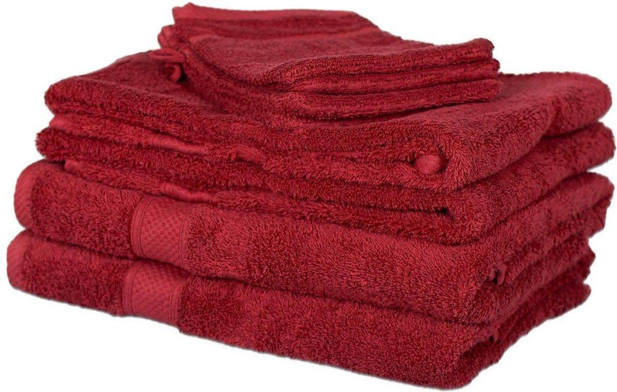 Milton & Oldbrook 8-delige Handdoekenset Edmont Red - Milton & Oldbrook