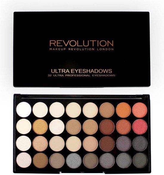 Makeup Revolution Flawless 2 Ultra Eyeshadows - Oogschaduw Palette - 32 Kleuren