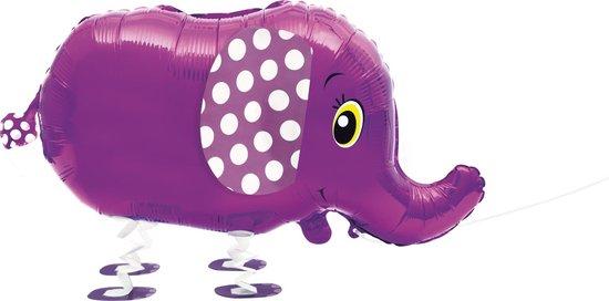 Metallic paarse olifant ballon - Feestdecoratievoorwerp