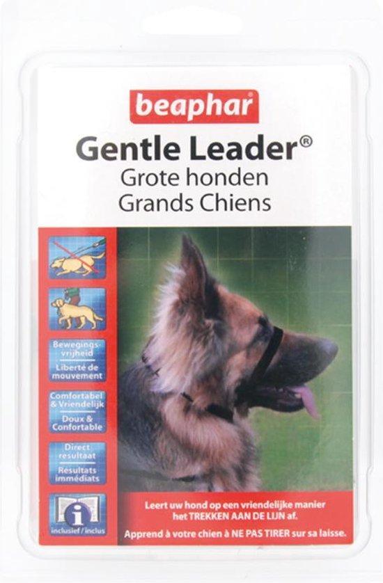 Beaphar - Gentle Leader - Zwart - 54 cm - Grote honden