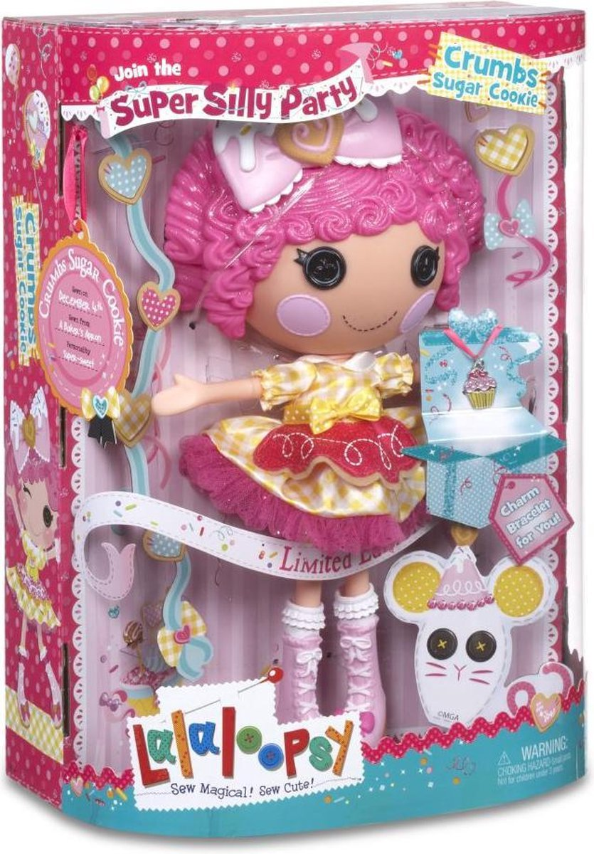 Lalaloopsy Super Silly Party Doll- Crumbs Sugar Cookie