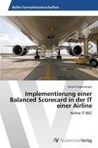 Implementierung Einer Balanced Scorecard in Der It Einer Airline