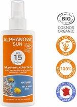 Alphanova Natuurlijke Zonnebrandspray factor 15