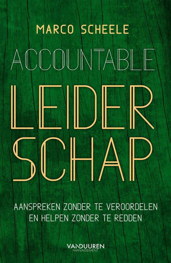 Accountable leiderschap - Marco Scheele |