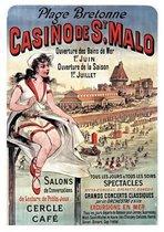 Carnet ligne Affiche Casino Saint-Malo