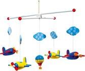 Hangdecoratie mobiel met vliegtuigen 44 cm